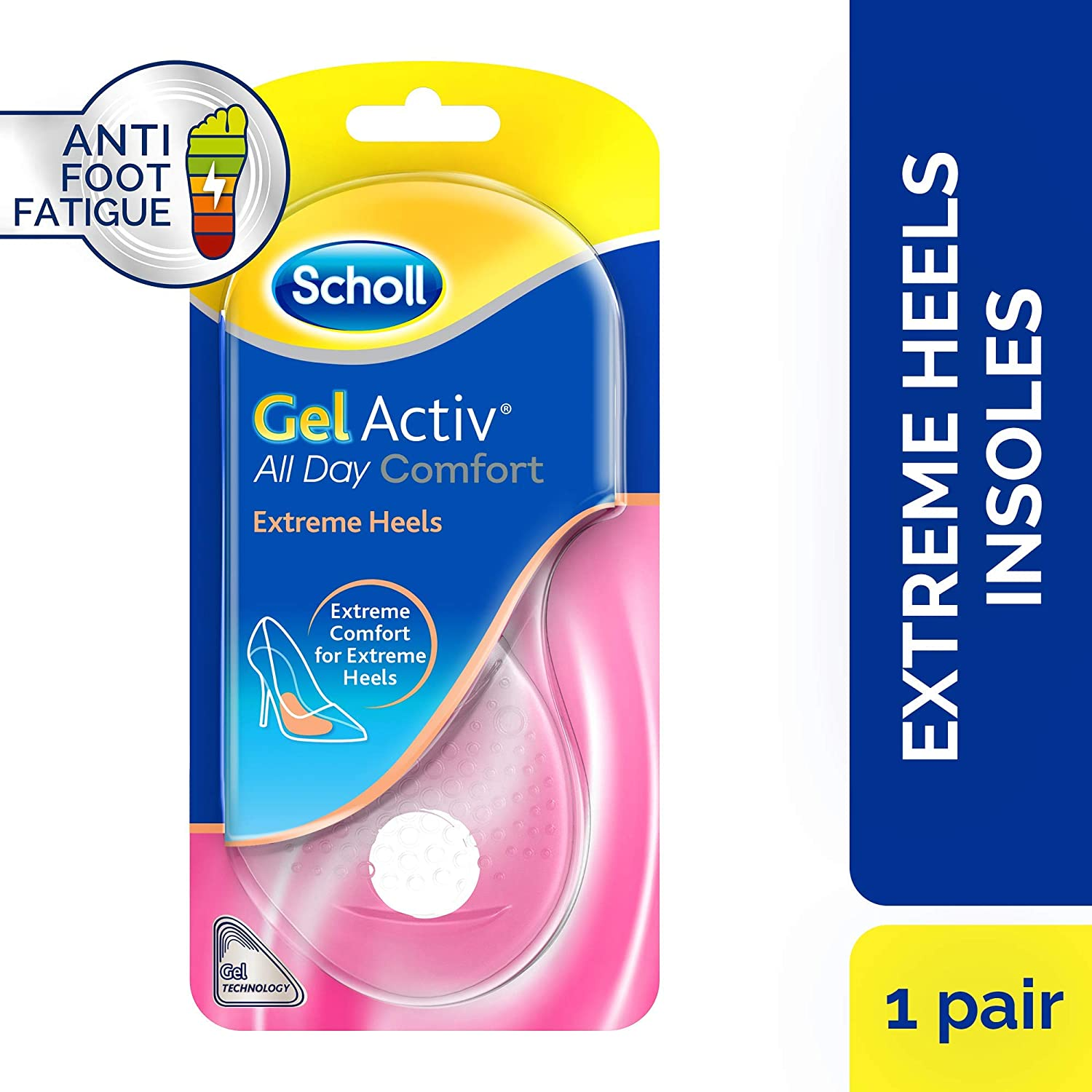 f8676a322b Scholl Gel Activ Extreme Heels Insoles, 1 Pair: Amazon.co.uk: Prime Pantry