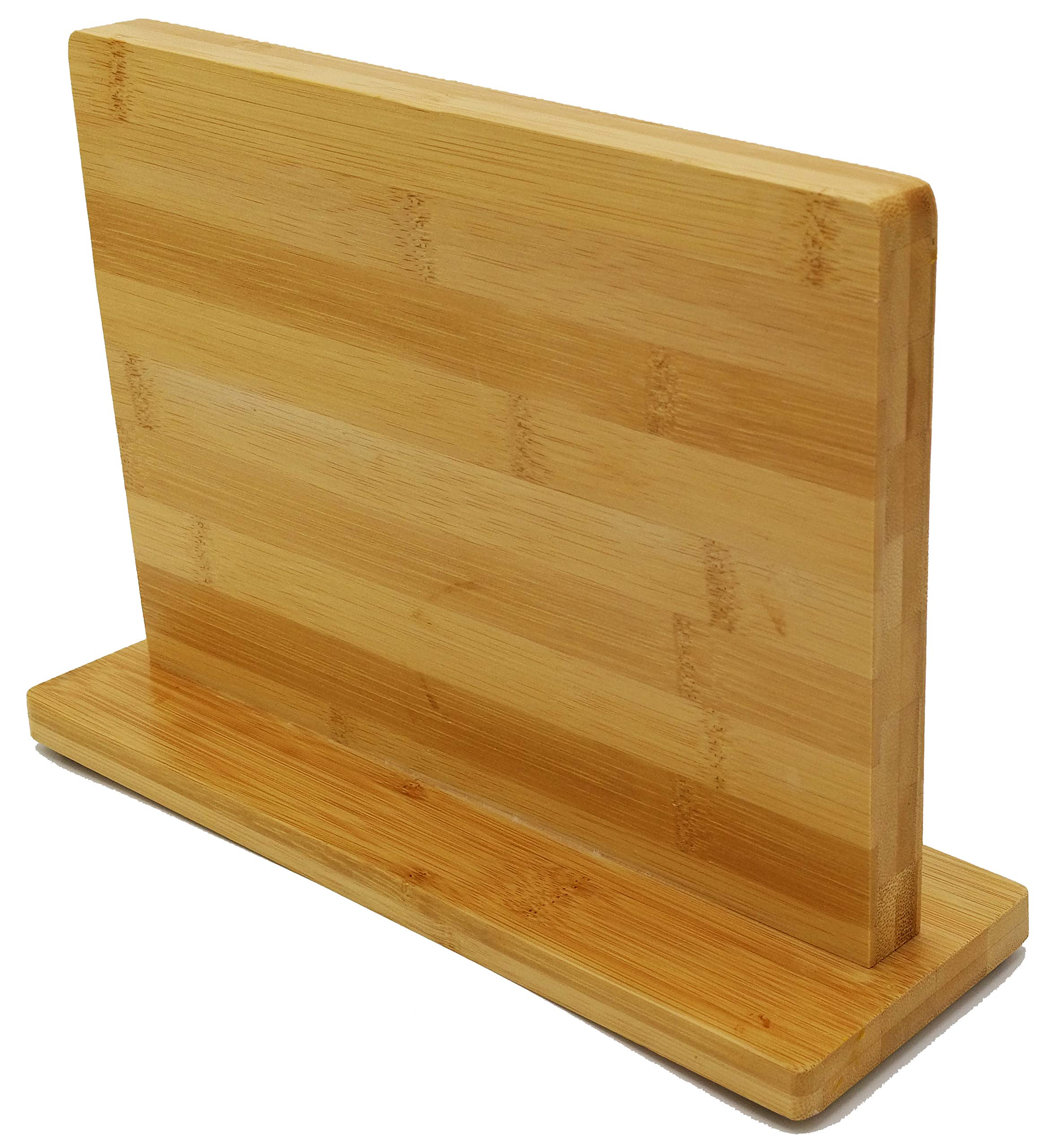 ETTU Kitchen Double-Sided Bamboo Magnetic Knife Block-Fits All Knives and Other Utensils Up to 8''-Saves Space, Displays Knives, Keeps Knives Sharp and Clean, Easy Access to Knives while Cooking
