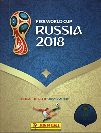 81177cd18 PANINI 2018 FIFA WORLD CUP RUSSIA HARD COVER ALBUM-GOLDEN EDITION COMPLETE SET  STICKERS at Amazon s Entertainment Collectibles Store