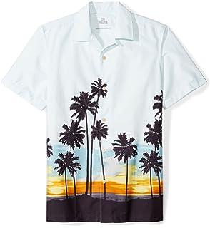 4a39486f Amazon Brand - 28 Palms Men's Standard-Fit 100% Cotton Tropical Hawaiian  Shirt
