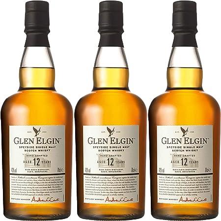 Glen Elgin Speyside 12 Years/Jahre, 3er, Single Pot Malt, Whisky, Scotch, Alcohol, Alokoholgetränk, Botella, 43%, 700 ml, 550298