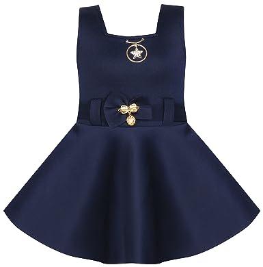 3d97ce34a1c3 BENKILS Cute Fashion Baby Girl s Soft Skuba Party Wear Frock Dress ...