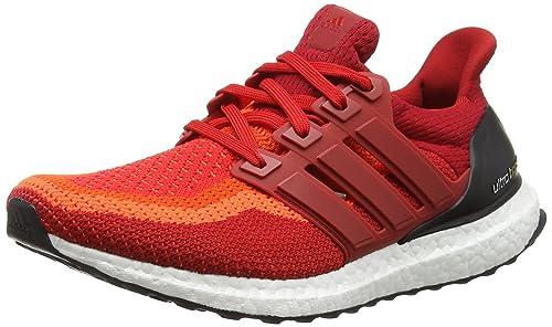 adidas Ultra Boost M, Zapatillas de Running para Hombre, Rojo/Negro (Rojsol/Rojpot/Negbas), 48 EU: Amazon.es: Zapatos y complementos