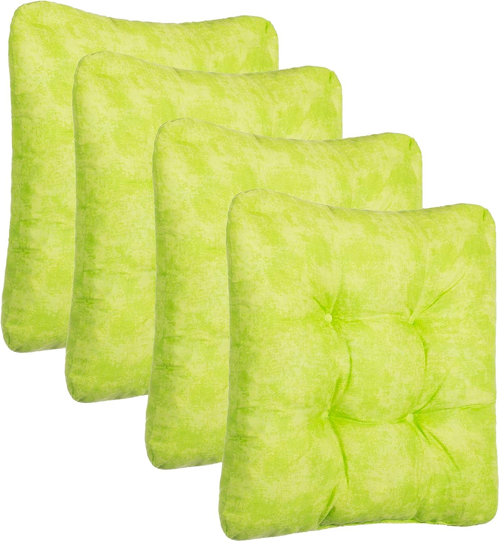 Brandsseller 4 pezzi Poliestere Set di cuscini per sedie set da 2 e 4 Beige