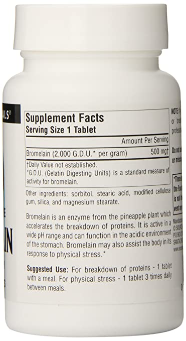 Source Naturals Bromelain, 500mg, 60 Tablets: Amazon.es ...