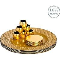 Argon Tableware Juego de bajoplatos con Textura, Posavasos