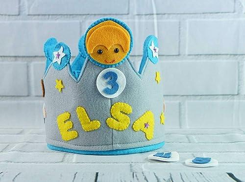 Corona Cumpleaños Infantil Personalizada Princesa Leia ...