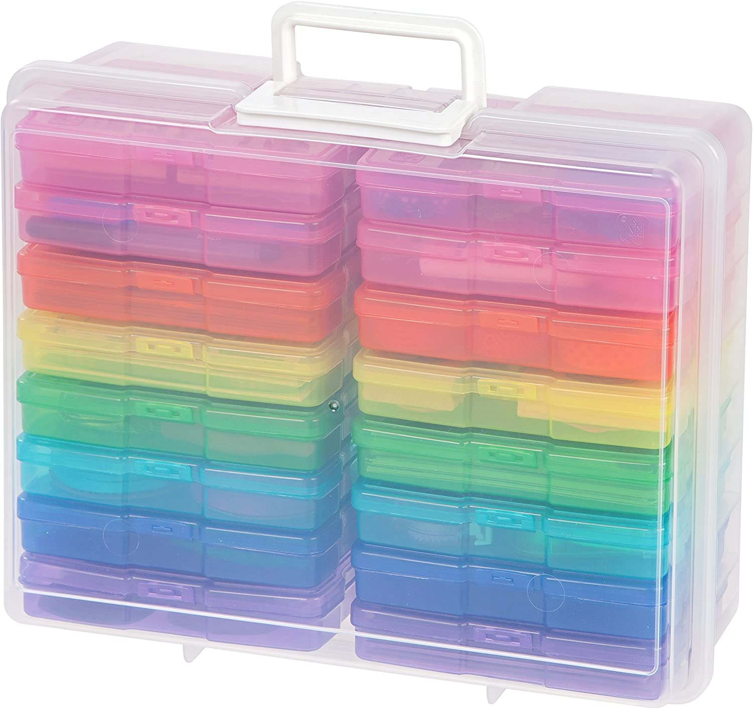 Multi Color IRIS USA 4 x 6 Photo Keeper and Craft Storage 4 Pack