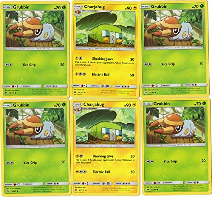 Amazoncom Pokemon Card Lot Grubbin 13149 X4 Charjabug 51