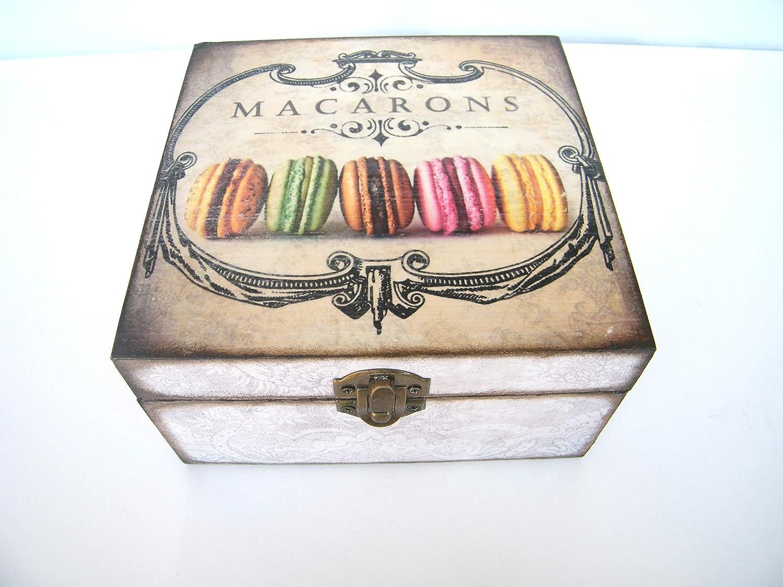 Caja para bolsitas de tè, almacenaje infusiones, cajita madera 4 ...