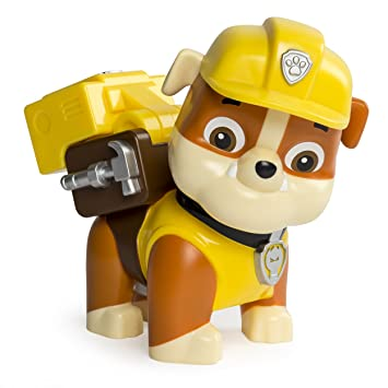 Paw Patrol - Jumbo Action Pup - Rubble - Mega Figura de Acción 15 cm La Patrulla Canina: Amazon.es: Juguetes y juegos