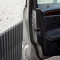 Ein Set von vier selbstklebenden schützenden Schaumstoffplatten für jede Oberfläche, als Autotür-Schützer zur Vorbeugung von Farbkratzern, Schrammen und Dellen zum Anbringen an den Garagenwände geeignet. Mondaplen Stoßdämpfende Wandplatten: Jede Schachtel enthält vier robuste Schaumstoffplatten (≈ 44 x 59 cm, Farbe: schwarz)