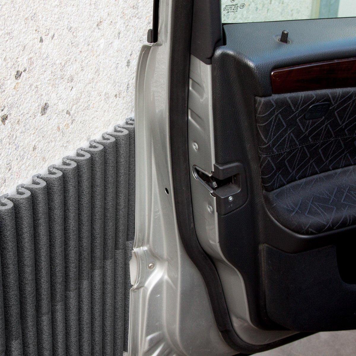 Mondaplen Wall Bumper Pannelli: un set da 4 pannelli rettangolari e adesivi in polietilene ammortizzante, perfetti per proteggere le portiere dell' auto (appross. 44x59 cm l' uno, colore:Arancione) Grifal SpA