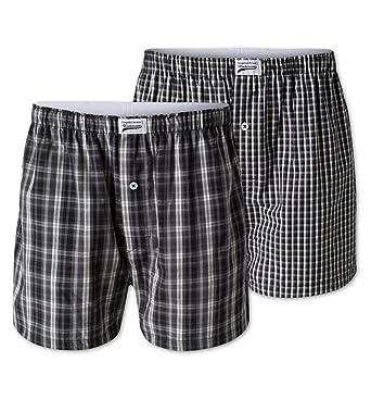 14a33a79e7 C&A Herren weite Boxershorts aus Bio-Baumwolle schwarz - weiß kariert Größe  L