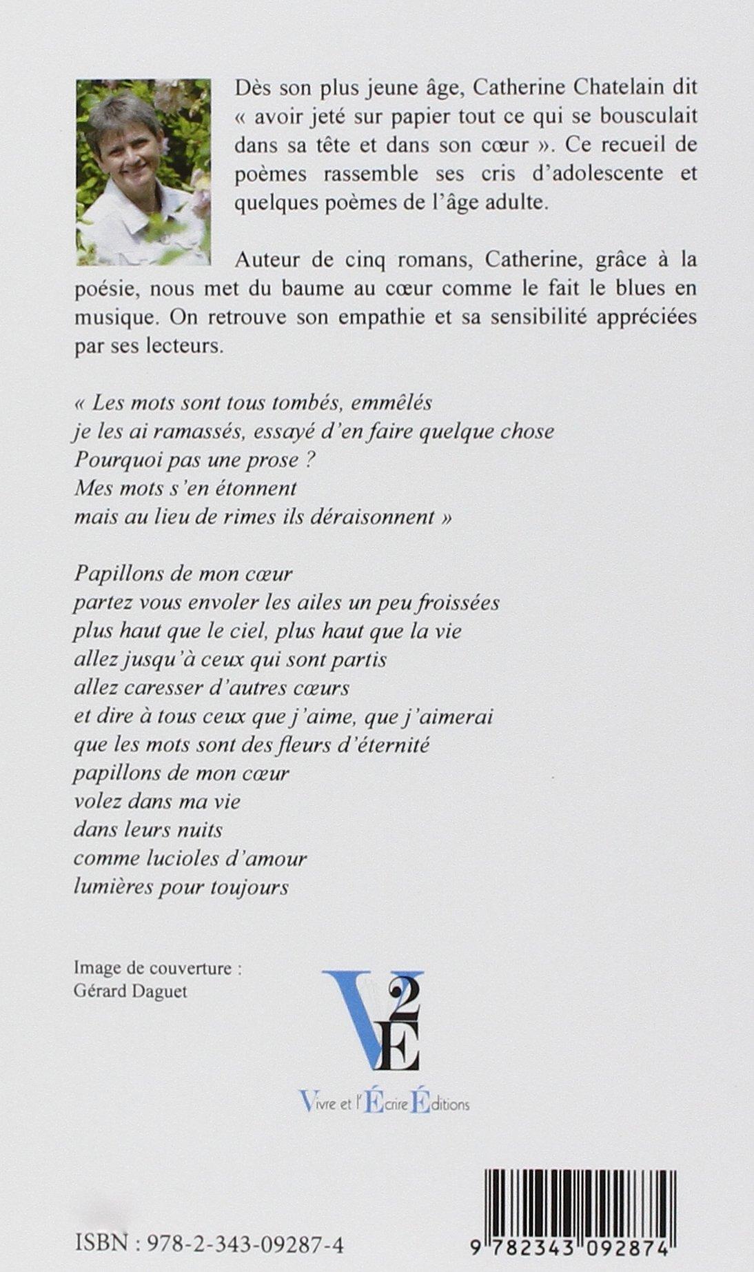 Papillons De Mon Coeur Catherine Chatelain 9782343092874