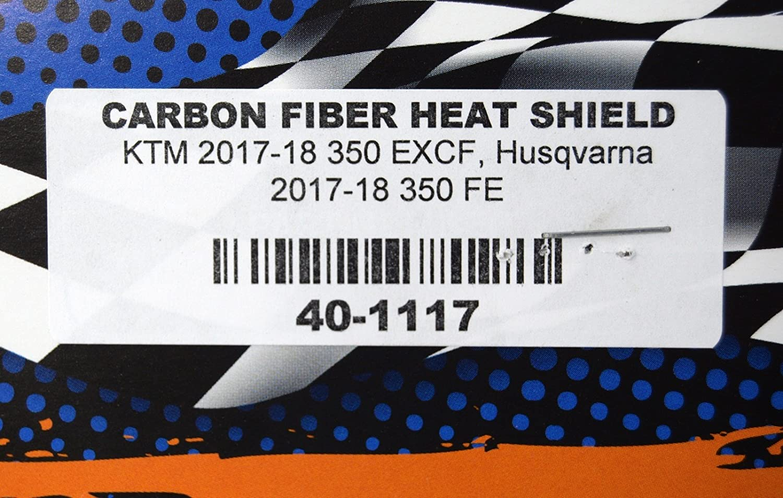 Compatible with KTM 2017-2019 350 EXCF Husqvarna 2017-2019 350 FE Enduro Engineering Carbon Fiber Exhaust Heat Shield