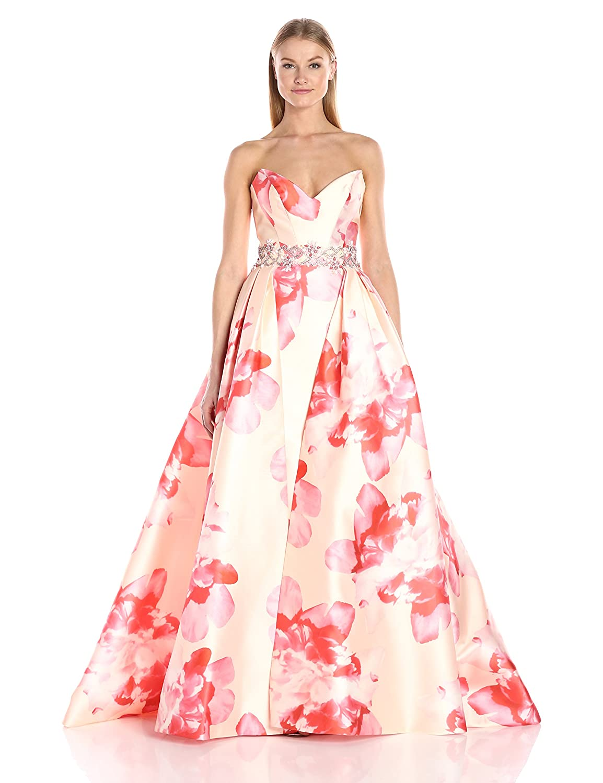 Amazon.com: Mac Duggal Women\'s Sweetheart Floral Makkado Gown: Clothing