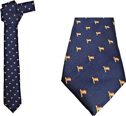 Corbata con motivos Bandera de España. Medidas: Largura: 146 cms, Anchura: 7 cms. (en la parte más ancha).: Amazon.es: Ropa y accesorios