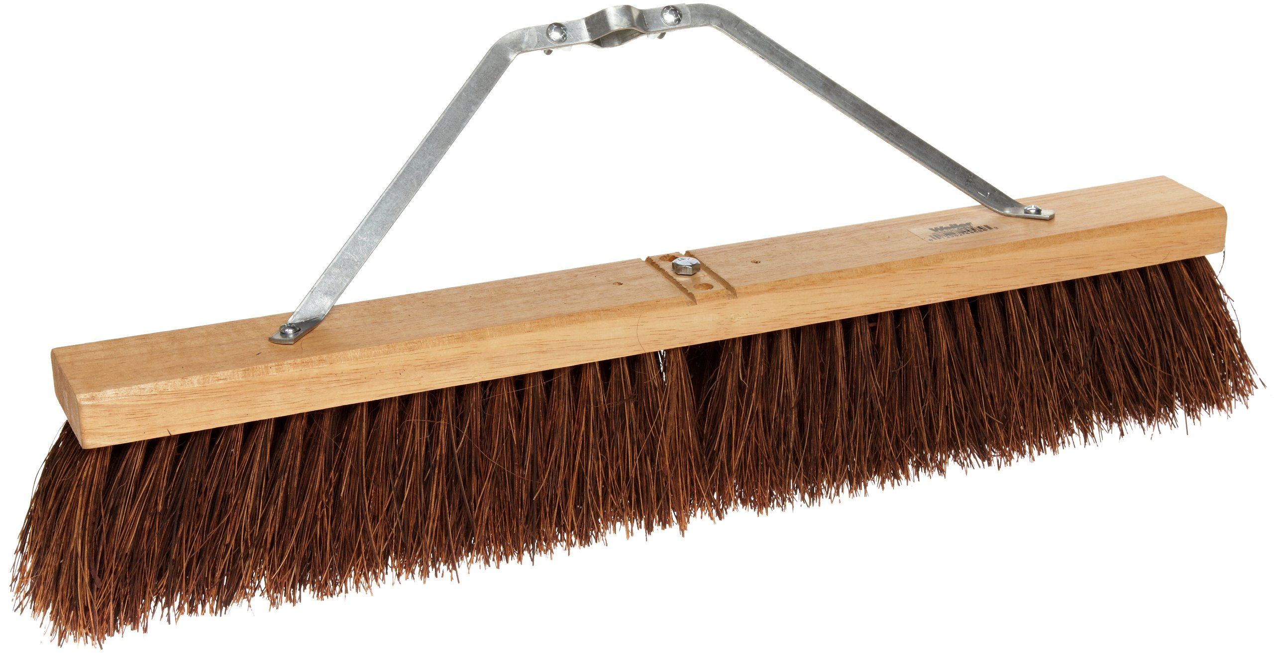 Weiler 44584 Palmyra Fiber Coarse Sweeping Broom with Wood Head, 2-1/2'' Head Width, Natural