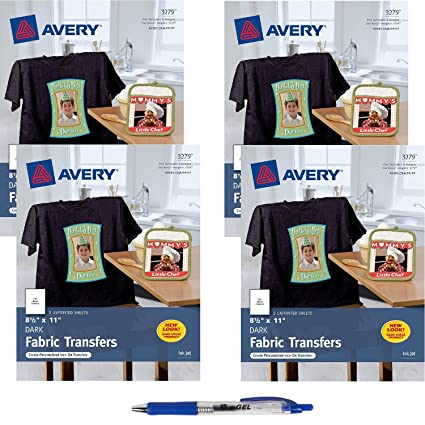 amazon com avery dark t shirt transfers matte 8 1 2 x 11 20
