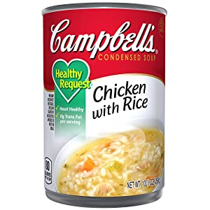 Campbell'sCondensedHealthy RequestChicken with Rice Soup, 10.5 oz. Can (Pack of 12)