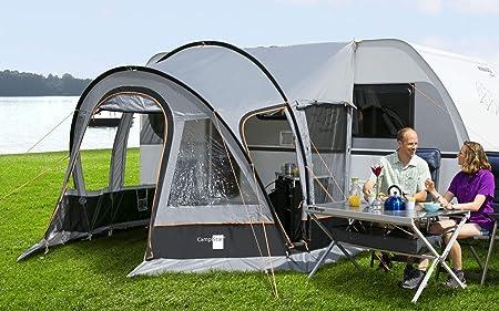 Berger - tienda de campaña para viajes CampiStar II, gris, 3000 mm de columna de agua, tienda parcial para caravanas y remolques, longitud Aprox. 280 cm.: Amazon.es: Coche y moto