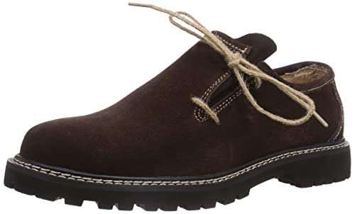 Zapatos Haferl disfraces trajes zapatos de cuero de gamuza Brown (44) 1IZ2IS