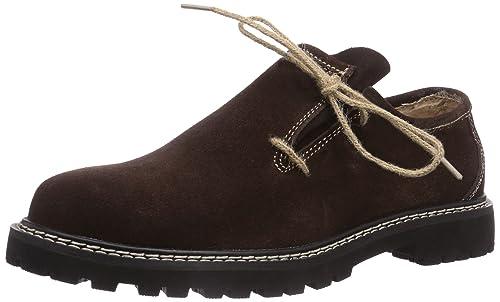 Fuchs Trachtenmoden Haferlschuh - Zapato Oxford de Cuero Hombre, Color Beige, Talla 41