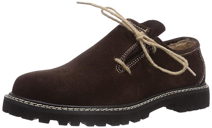 Fuchs Trachtenmoden Haferlschuh - Zapato Oxford de Cuero Hombre, Color Marrón, Talla 44