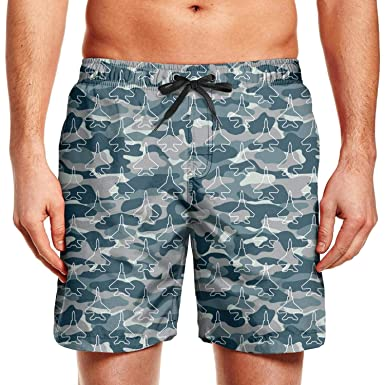 Amazon.com  Men s Blue Camouflage Army Universe Aircraft Beach ... 8c43d395afe