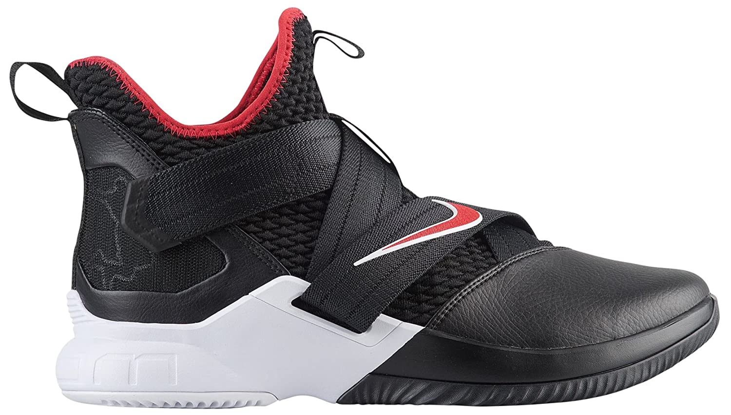 buy popular eb809 6c684 Amazon.com   Nike Men s Zoom Lebron Soldier XII Basketball Shoes (11.5,  Black Red White)   Basketball
