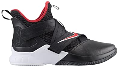 online retailer 410eb 0d105 Nike Men's Zoom Lebron Soldier XII Basketball Shoes (11.5, Black/Red/White)