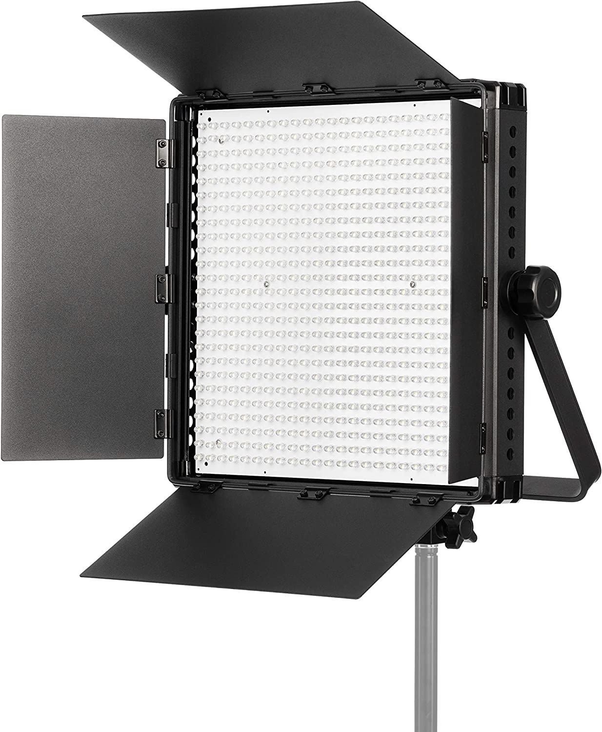 Fovitec - Portable 600 LED Bi-Color Panel for Video and Photo with Barndoors, DMX, V-Lock Mount, and Case