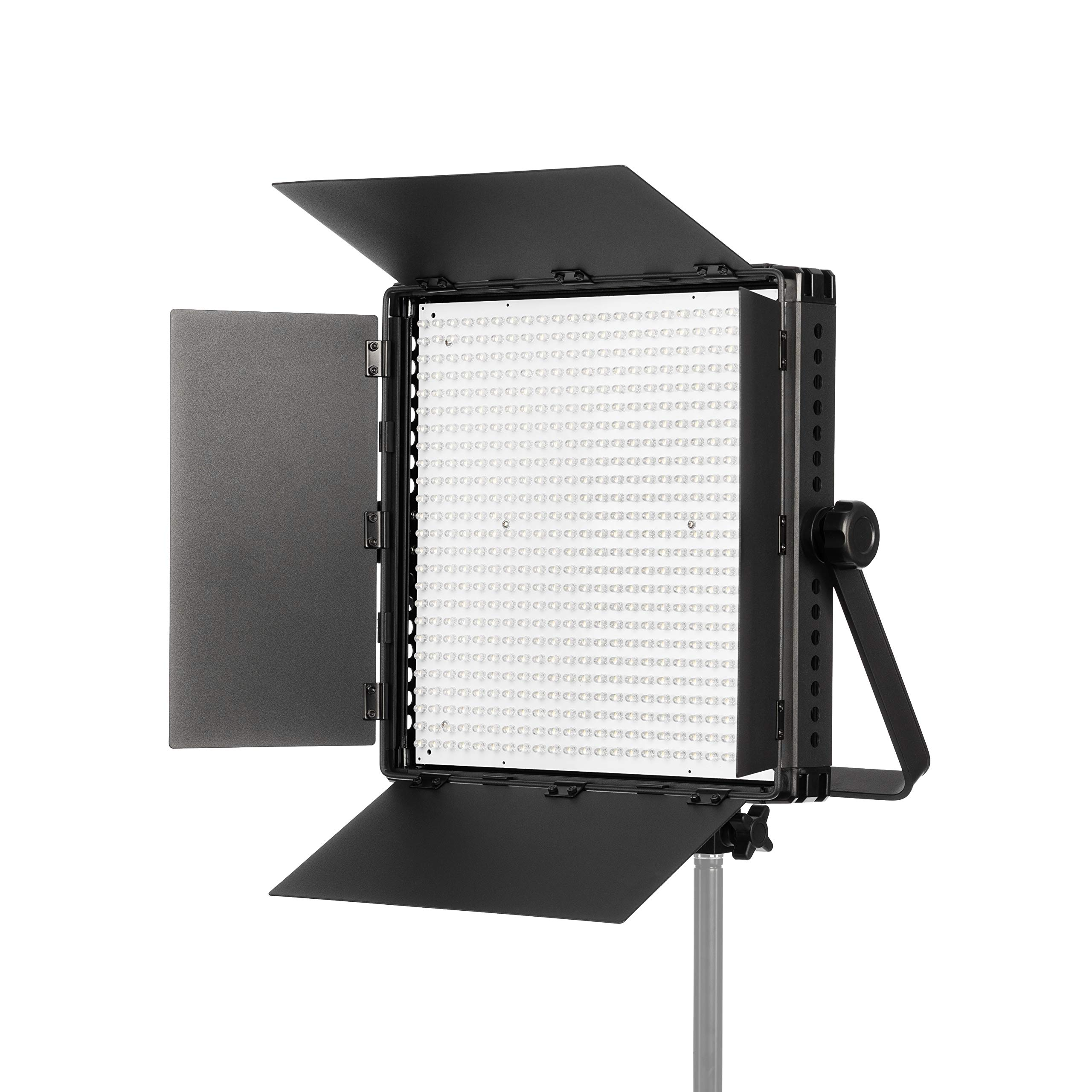 FOVITEC - Portable 600 LED Daylight Panel for Video and Photo with Barndoors, DMX, V-Lock Mount, and Case by FOVITEC