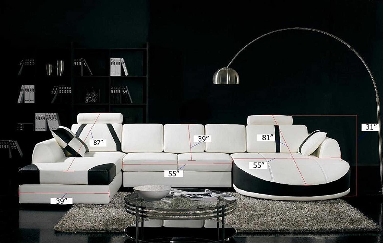 Nice Amazon.com: Vig Furniture T57B Ultra Modern Sectional Sofa: Kitchen U0026 Dining