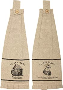 VHC Brands Valley Farms Mill and Rooster Farmhouse Tea Towel (Set of 2)