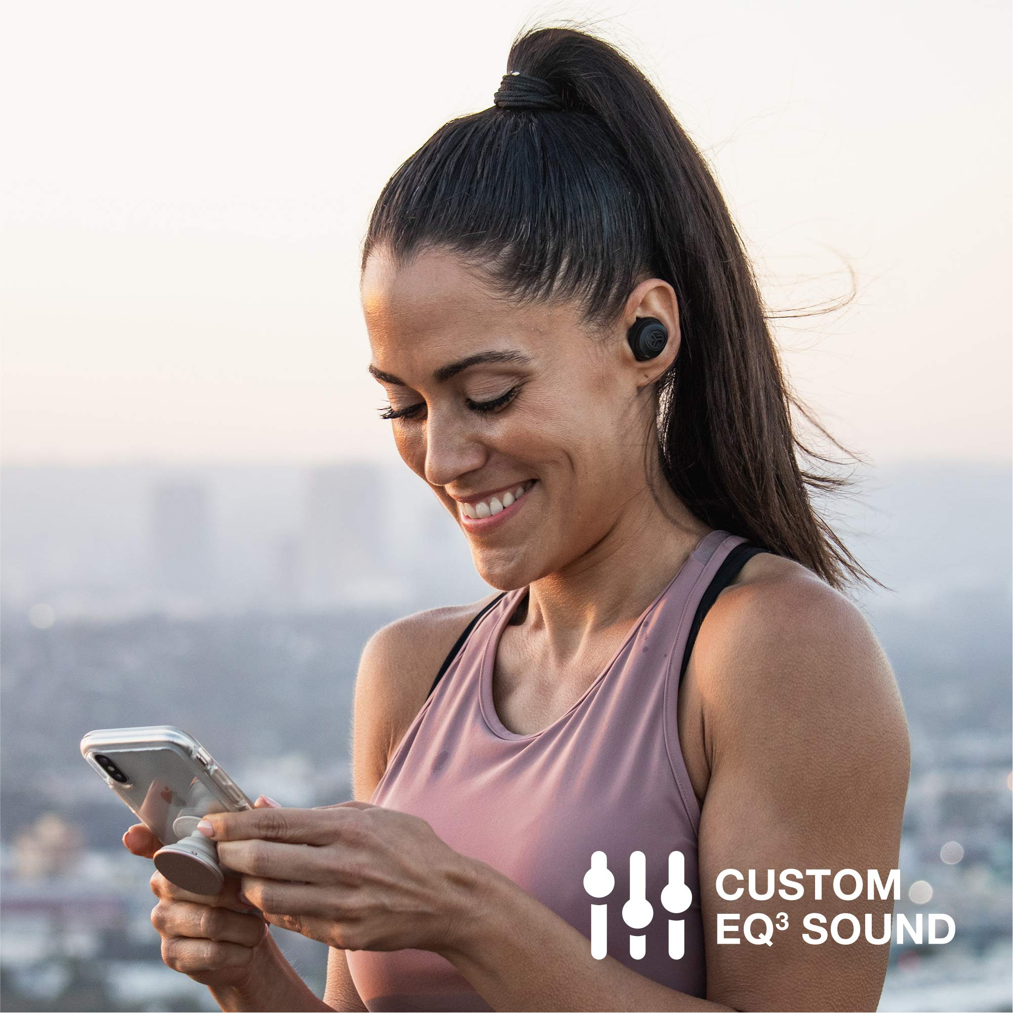 JLab Audio JBuds Air True Wireless Signature Bluetooth Earbuds + Charging Case - Black - IP55 Sweat Resistance - Bluetooth 5.0 Connection - 3 EQ Sound Settings: JLab Signature, Balanced, Bass Boost by JLAB (Image #5)