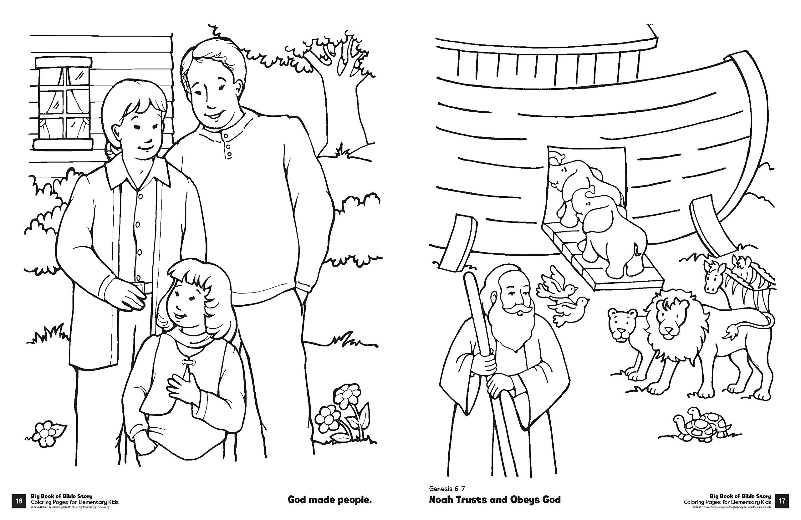 - Big Book Of Bible Story Coloring Pages For Elementary Kids (Big