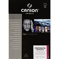Canson InFinity PhotoSatin Premium RC Papier Photo 25 Feuilles 270g A4 Blanc