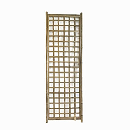 Amazon.com: Framed Bamboo Panel with Square Lattice Opening 72H x 24 ...