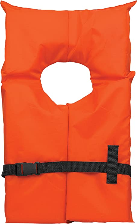Onyx Adult Universal Type 2 USCG Approved Life Jacket Orange