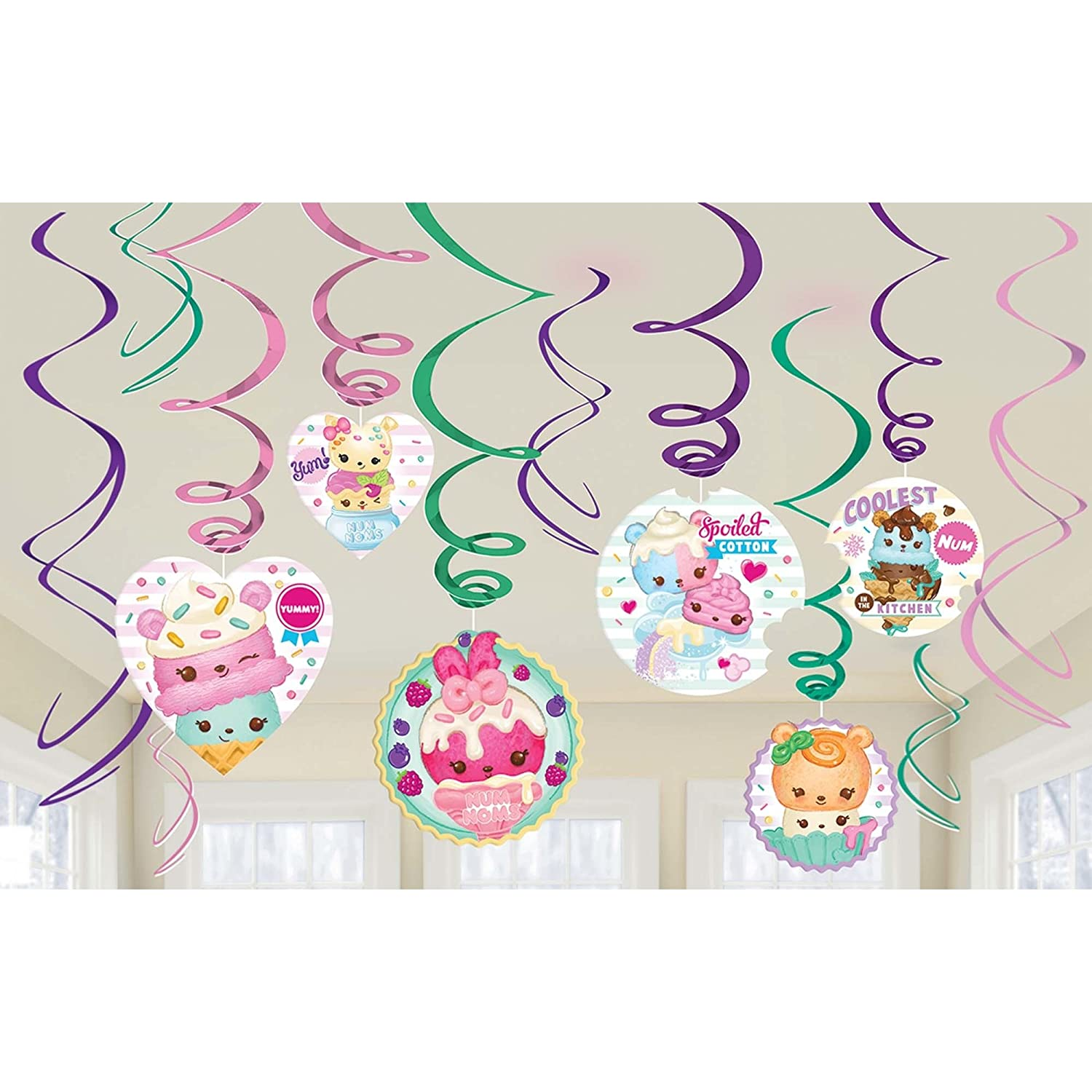 Amscan Foil Swirl Decoration Num Noms/&Trade Collection Party Accessory