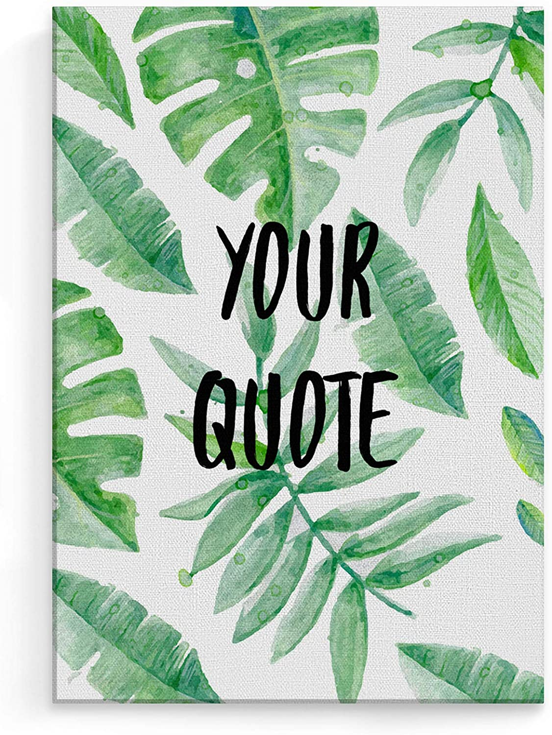 Personalized Customizable Custom Text Tumblr Motivation Or Inspiration Quote Tropical Leaves Palm Leaf Large Canvas Print Stretched On A Frame For Stylish Decorations Wall Art Size 30cm X 40cm Amazon Co Uk Kitchen What's included 6 large files 300dpi in the following sizes. personalized customizable custom text