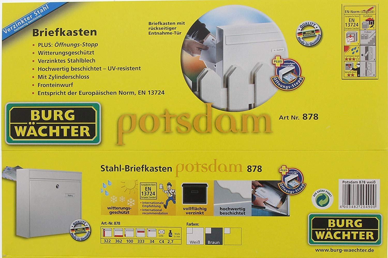 Marr/ón Burg-W/ächter Potsdam 878 BR Buz/ón de Doble Cara