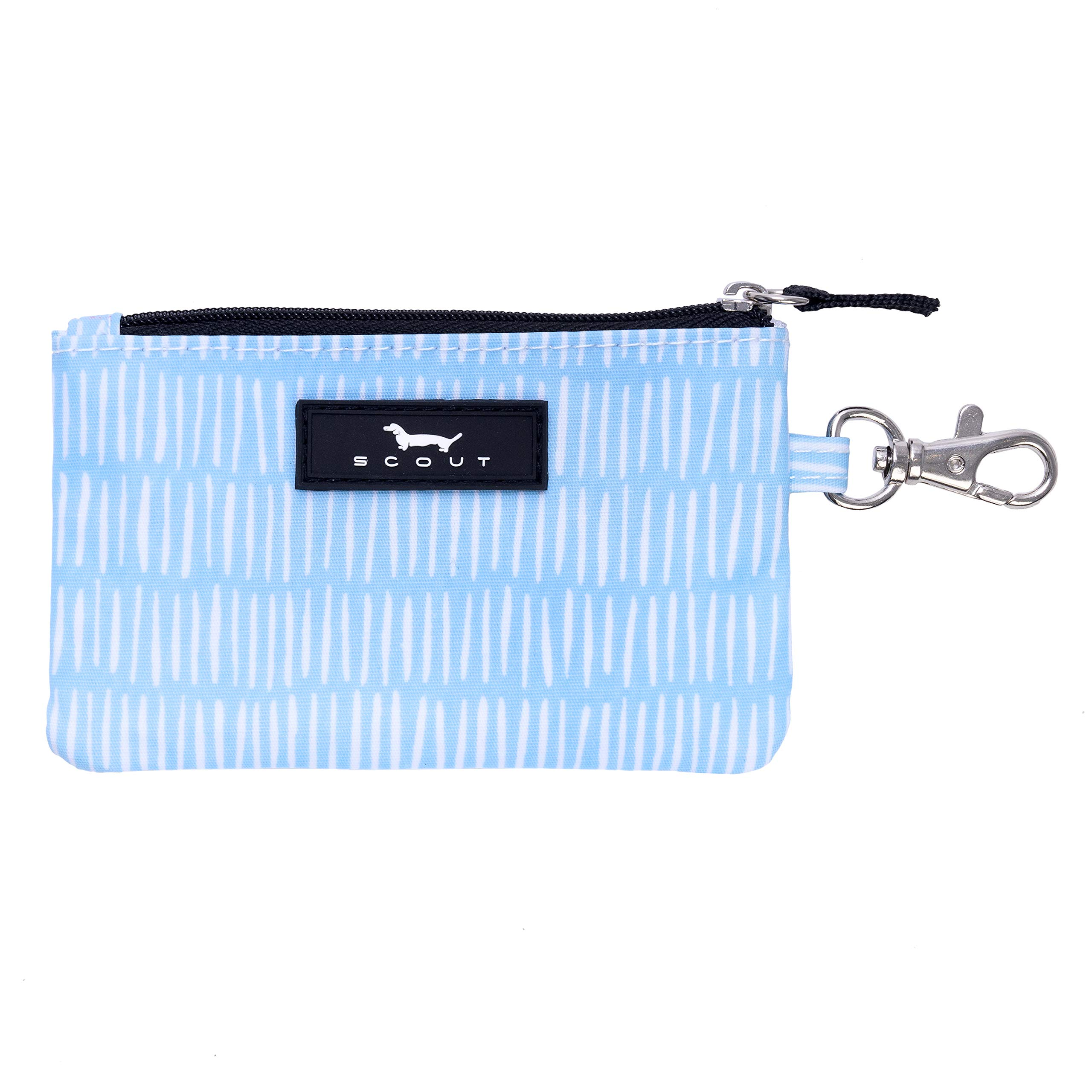 SCOUT IDKase Card Holder or Wallet, ID Holder Window, Key Clasp, Water Resistant, Zips Closed, Tally Girl
