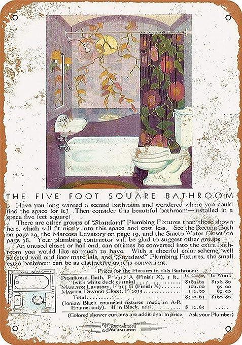 Five Foot Square Bathroom Póster De Pared Metal Retro Placa ...