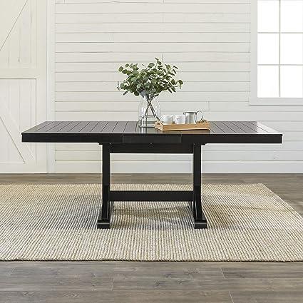 9abe18b013df8f Amazon.com - WE Furniture AZW60WBL Dining Table 60