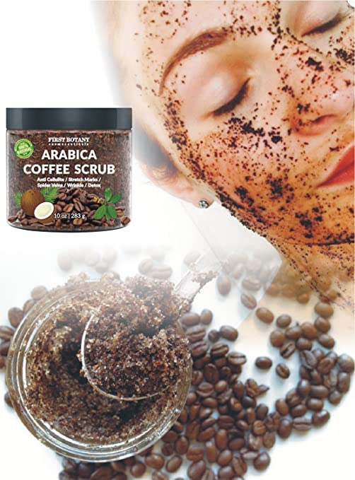 100% Natural Arabica Coffee Scrub with Organic Coffee, Coconut and Shea  Butter - Best