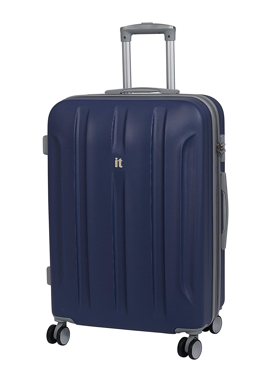 Twilight Blue Azul 110 Liters it luggage Proteus 8 Wheel Hard Shell Single Expander Suitcase with TSA Lock Maleta 71 cm