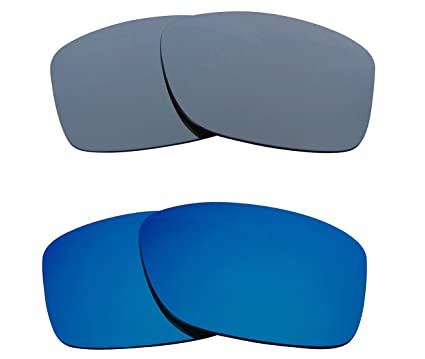 1e5380a922 Image Unavailable. Image not available for. Color  JUPITER SQUARED  Replacement Lenses Blue   Silver by SEEK fits OAKLEY Sunglasses